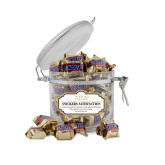 Snickers Satisfaction Small Round Canister-Wofford College Stacked