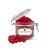 Sweet & Sour Cherry Surprise Small Round Canister-Wofford Terriers w/ Terrier
