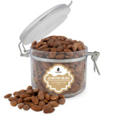 Almond Bliss Round Canister-Wofford Terriers w/ Terrier