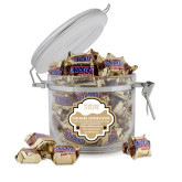 Snickers Satisfaction Round Canister-Wofford College Stacked