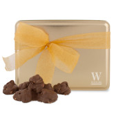 Decadent Chocolate Clusters Gold Large Tin-W Wofford Engraved