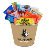 Metal Gift Bucket w/Neoprene Cover-Wofford Terriers w/ Terrier