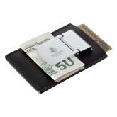 Zippo Leather Money Clip Card Case-Wofford Terriers w/ Terrier Engraved
