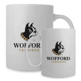 Full Color White Mug 15oz-Wofford Terriers w/ Terrier