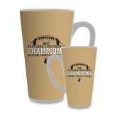 Full Color Latte Mug 17oz-2017 Football Champions - Football