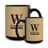 Full Color Black Mug 15oz-W Wofford
