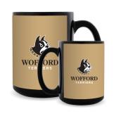 Full Color Black Mug 15oz-Wofford Terriers w/ Terrier