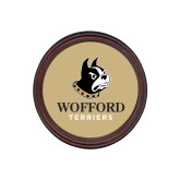 Round Coaster Frame w/Insert-Wofford Terriers w/ Terrier