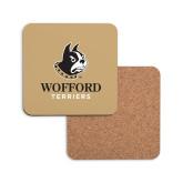 Hardboard Coaster w/Cork Backing-Wofford Terriers w/ Terrier