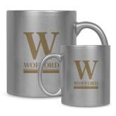 11oz Silver Metallic Ceramic Mug-W Wofford