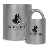 Full Color Silver Metallic Mug 11oz-Wofford Terriers w/ Terrier