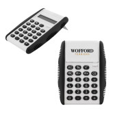 White Flip Cover Calculator-Wofford Terriers Word Mark