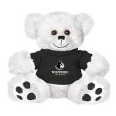 Plush Big Paw 8 1/2 inch White Bear w/Black Shirt-Wofford Terriers w/ Terrier