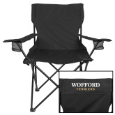Deluxe Black Captains Chair-Wofford Terriers Word Mark