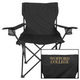 Deluxe Black Captains Chair-Wofford College Stacked