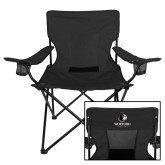 Deluxe Black Captains Chair-Wofford Terriers w/ Terrier