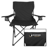 Deluxe Black Captains Chair-Wofford Terriers w/ Terrier Flat