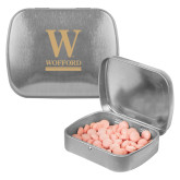 Silver Rectangular Peppermint Tin-W Wofford