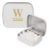 White Rectangular Peppermint Tin-W Wofford