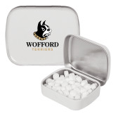 White Rectangular Peppermint Tin-Wofford Terriers w/ Terrier