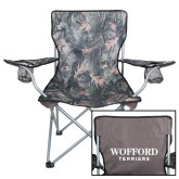 Hunt Valley Camo Captains Chair-Wofford Terriers Word Mark
