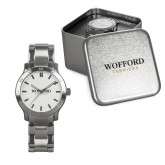 Mens Stainless Steel Fashion Watch-Wofford Terriers Word Mark