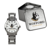 Mens Stainless Steel Fashion Watch-Wofford Terriers w/ Terrier