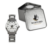 Ladies Stainless Steel Fashion Watch-Wofford Terriers w/ Terrier