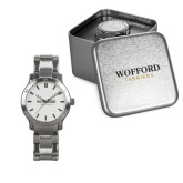 Ladies Stainless Steel Fashion Watch-Wofford Terriers Word Mark