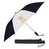 42 Inch Slim Stick Black/White Vented Umbrella-W Wofford