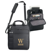 Kenneth Cole Black Vertical Checkpoint Friendly Messenger-W Wofford