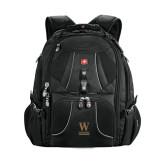 Wenger Swiss Army Mega Black Compu Backpack-W Wofford