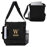 Impact Vertical Black Computer Messenger Bag-W Wofford