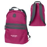Pink Raspberry Nailhead Backpack-Wofford Terriers Word Mark