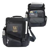 Momentum Black Computer Messenger Bag-W Wofford