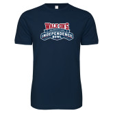 Next Level SoftStyle Navy T Shirt-Independence Bowl