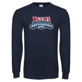 Navy Long Sleeve T Shirt-Independence Bowl