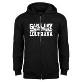 Black Fleece Full Zip Hoodie-Game Day - Louisiana