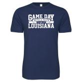 Next Level SoftStyle Indigo Blue T Shirt-Game Day - Louisiana