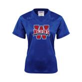 Ladies Royal Replica Football Jersey-W Mark