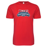 Next Level SoftStyle Red T Shirt-Independence Bowl