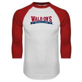 White/Red Raglan Baseball T Shirt-Primary Mark
