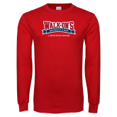 Red Long Sleeve T Shirt-Location Personalized