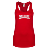Next Level Ladies Red Ideal Racerback Tank-Primary Mark Sport Mesh