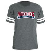 Light Grey Football Fine Jersey T Shirt-