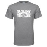 Grey T Shirt-Game Day - Louisiana