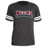 Dark Grey Football Fine Jersey T Shirt-