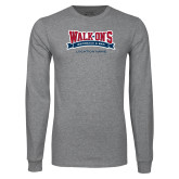 Grey Long Sleeve T Shirt-Location Personalized