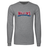 Grey Long Sleeve T Shirt-Primary Mark Distressed