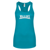 Next Level Ladies Tahiti Blue Ideal Racerback Tank-Primary Mark Sport Mesh